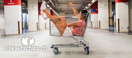 Münze Jeton Einkaufswagen Druck