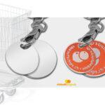 Münzen für Einkauf Wagen Druck Metall Jetons bestellen