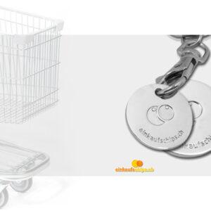 Chips für Einkaufswagen Werbeartikel Geschenk Druck Jeton Münze