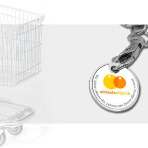 Einkaufschip Express Jeton Druck Münze bestellen Shop Schweiz